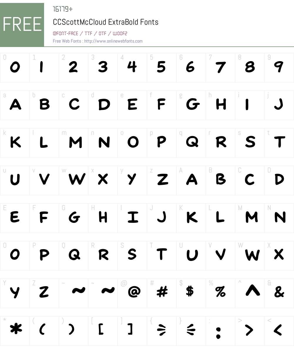CCScottMcCloud-ExtraBold Font Screenshots