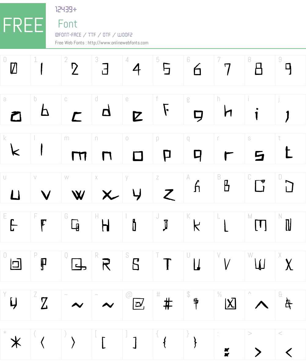 !MISQOT Font Screenshots