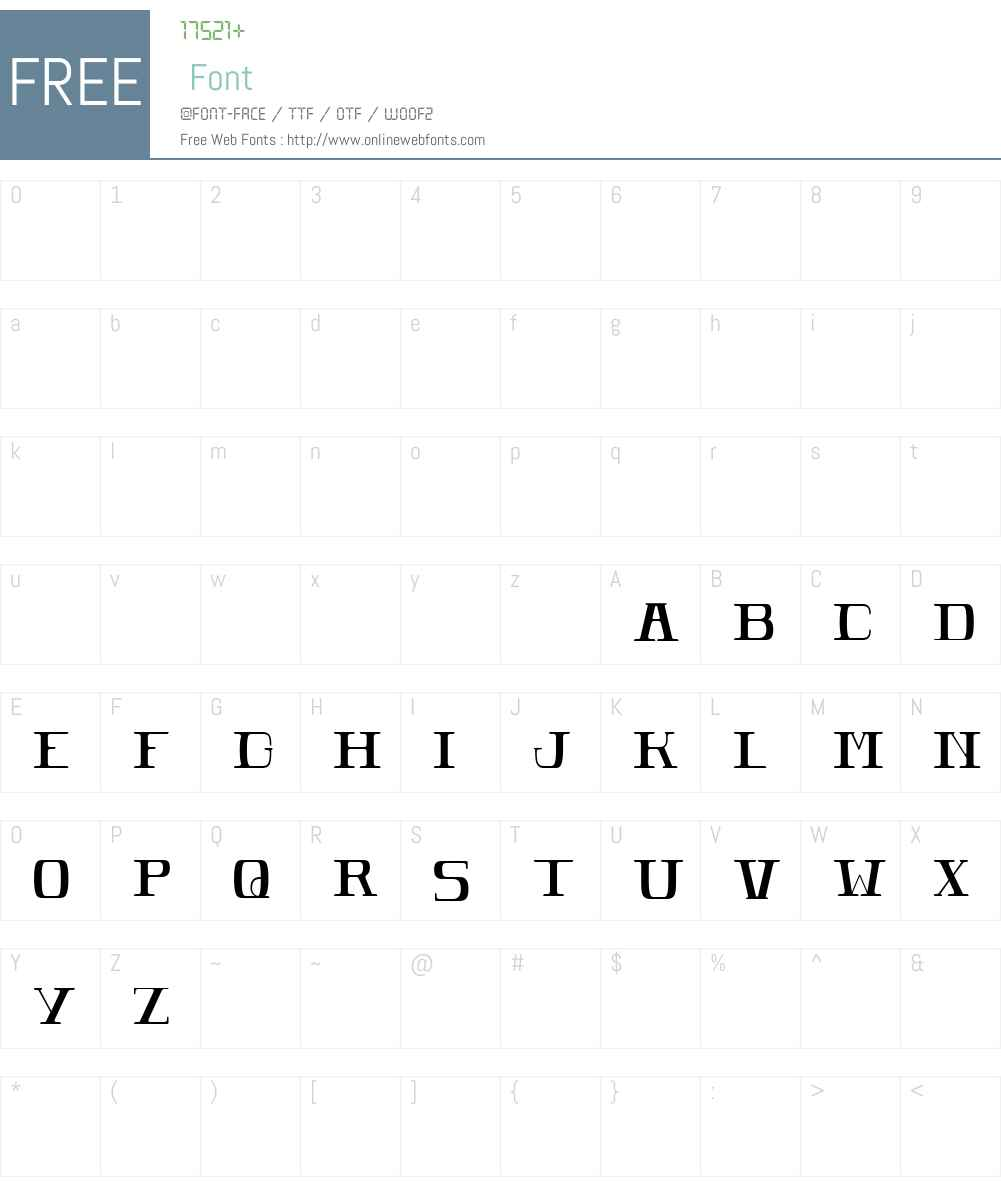 POMEROLE LIGHT Font Screenshots