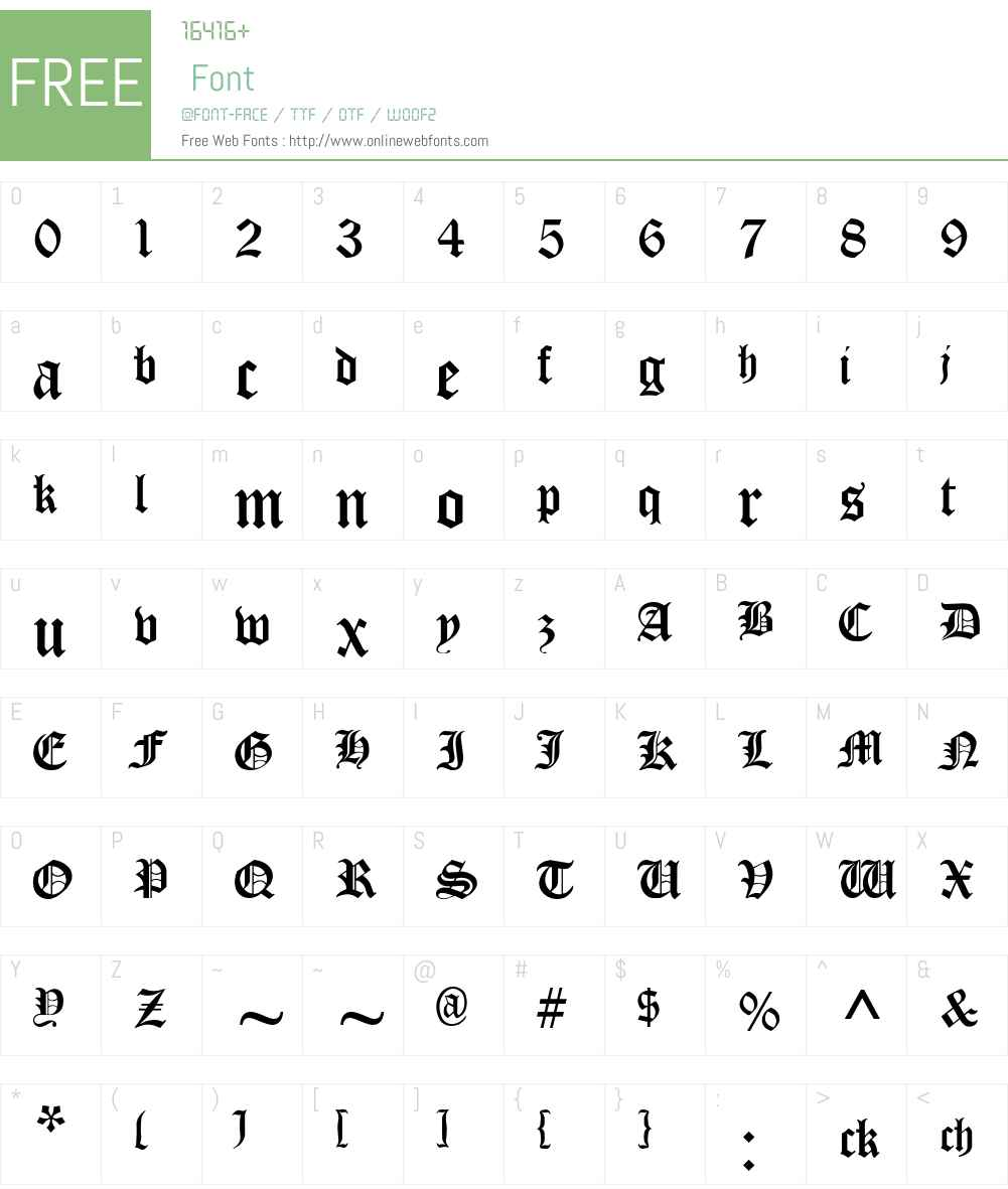 Cloister Black Font Screenshots