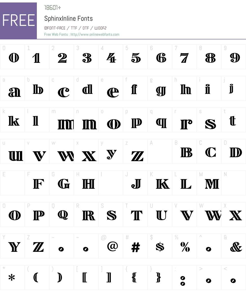SphinxInline Font Screenshots