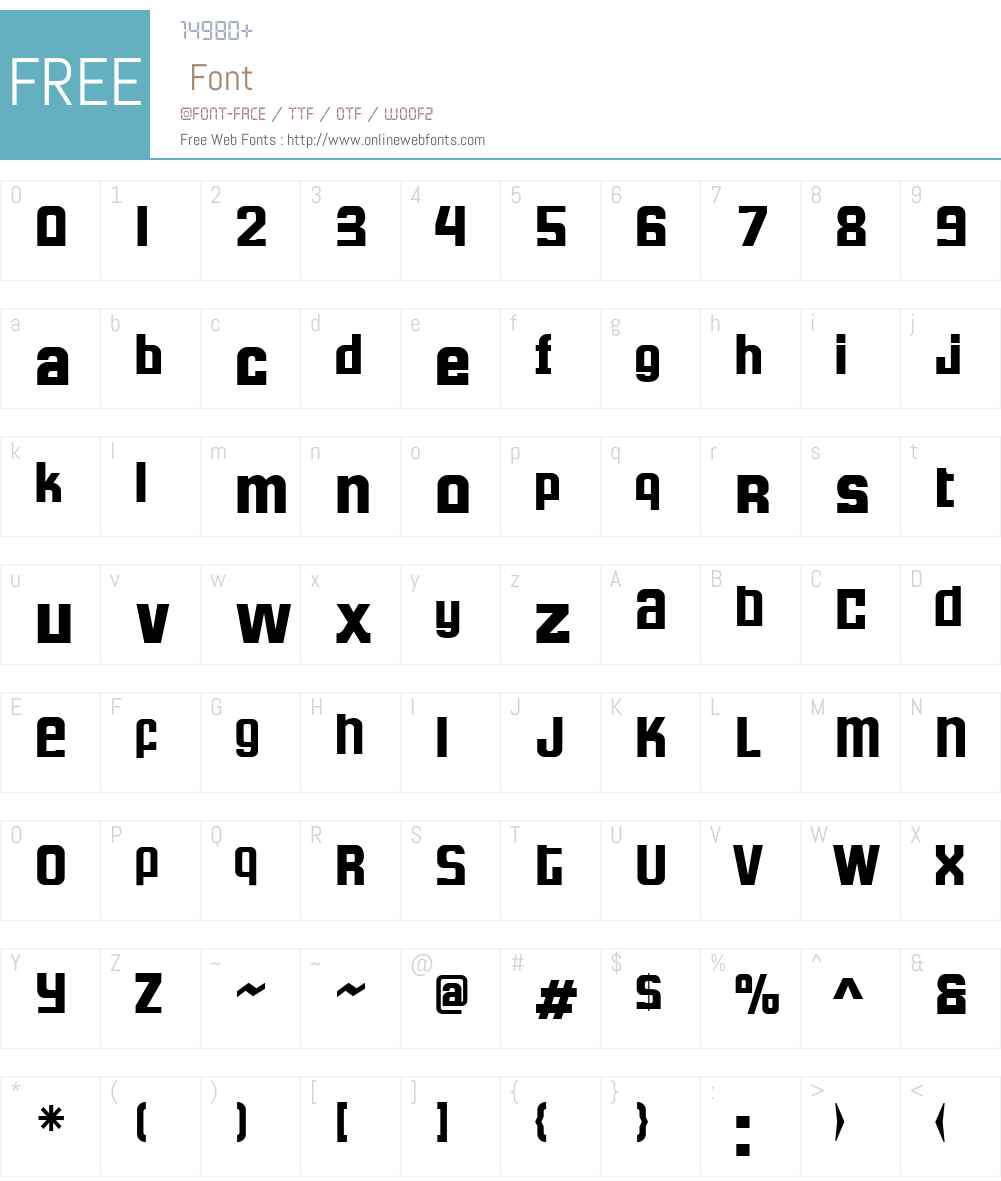 FormulaW00-SRegular Font Screenshots