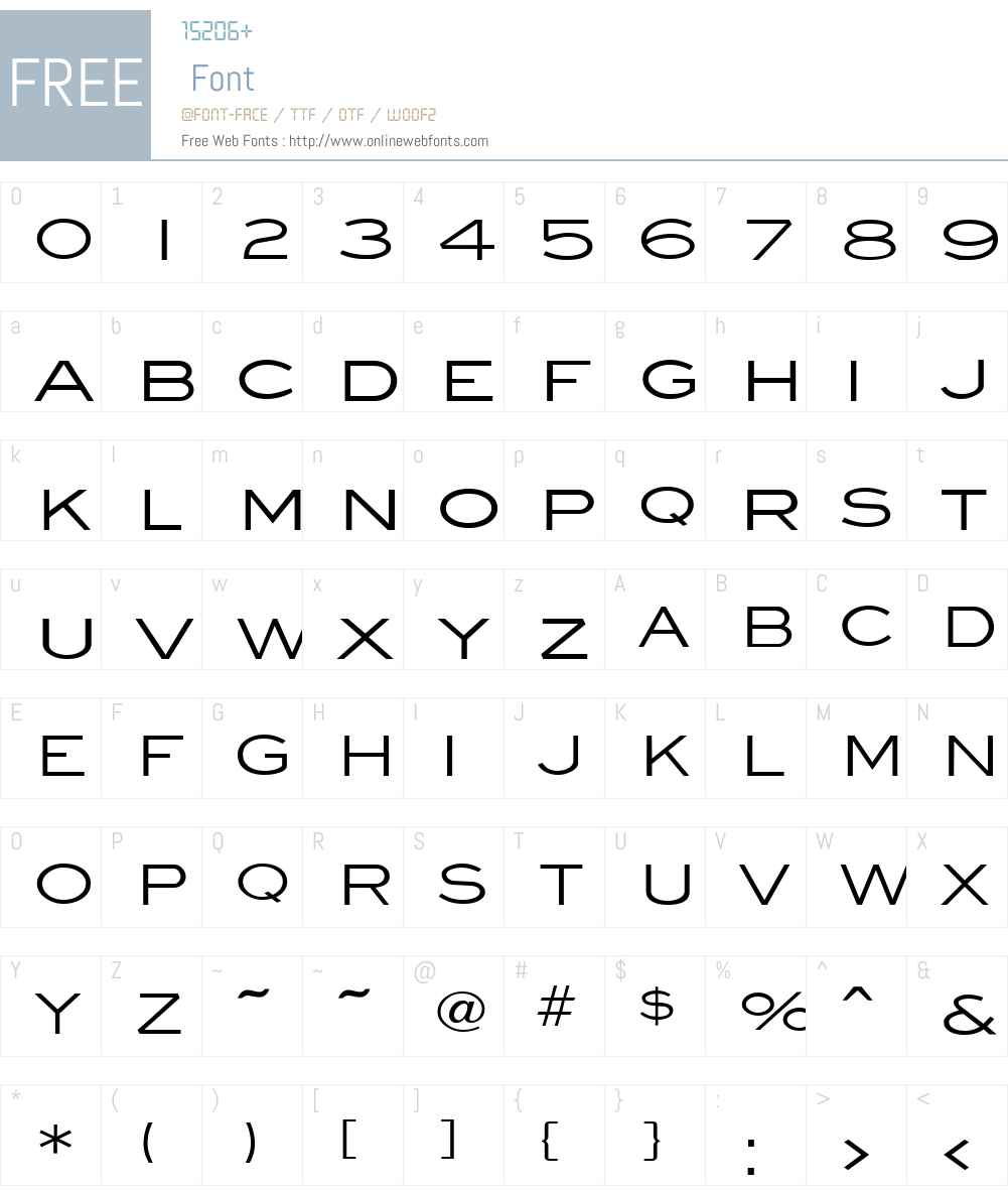 Eye glass Wide Font Screenshots
