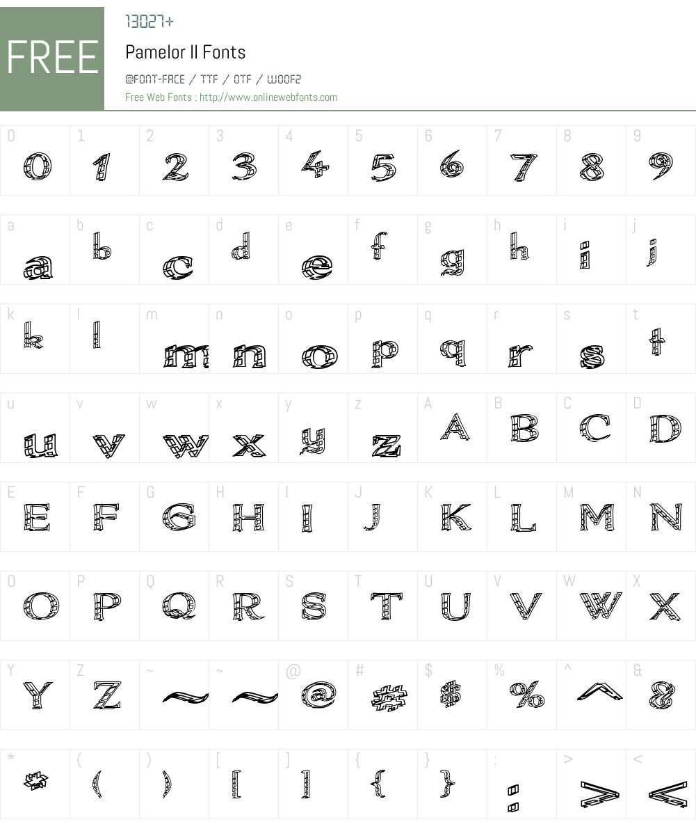 Pamelor II Font Screenshots