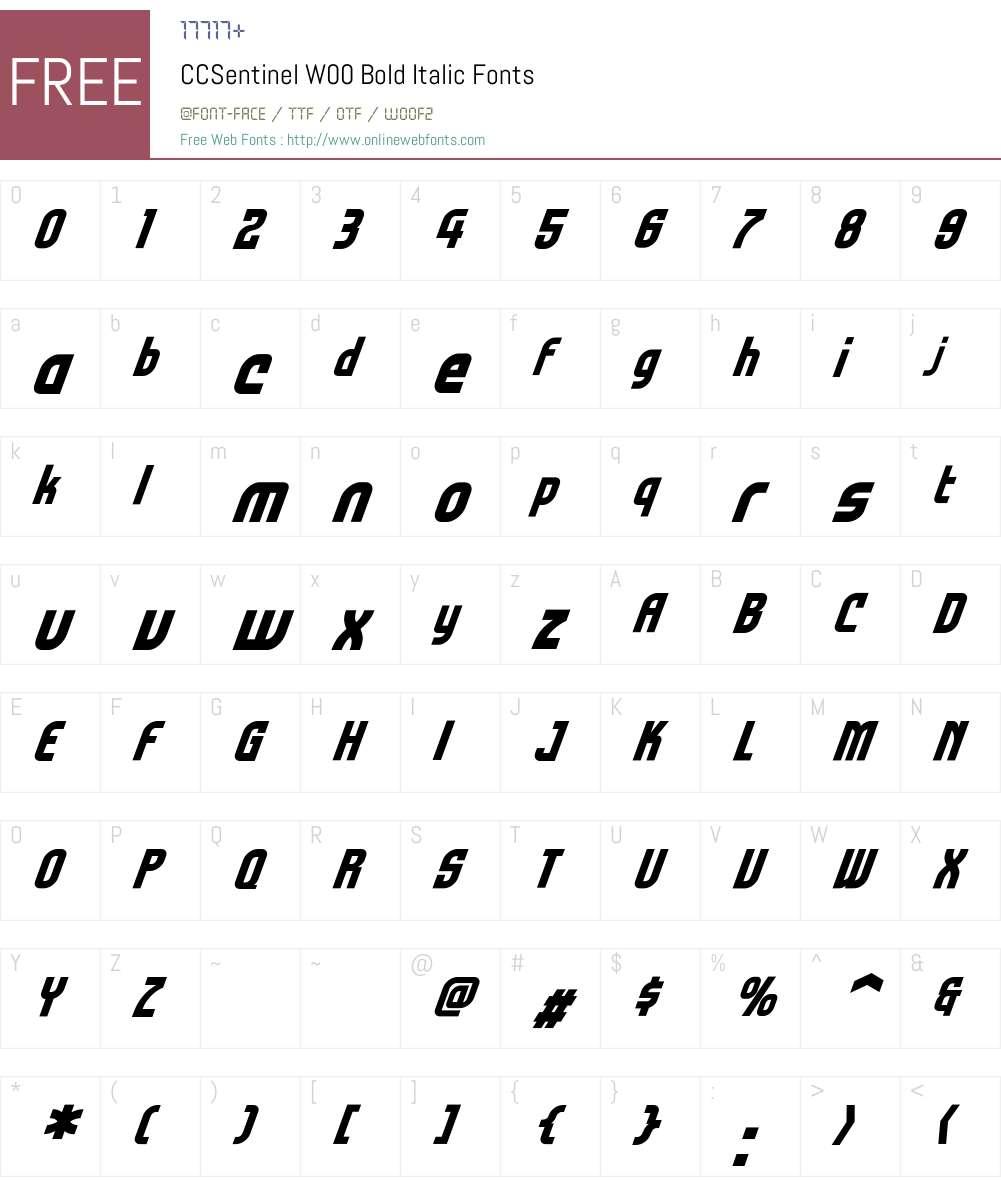 CCSentinelW00-BoldItalic Font Screenshots