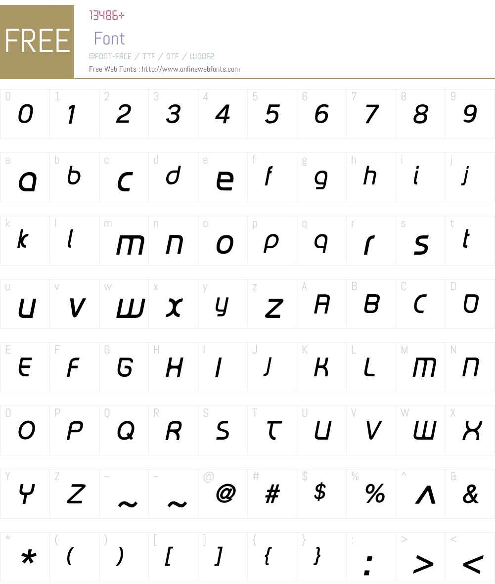 RiptCure Light Oblique Font Screenshots