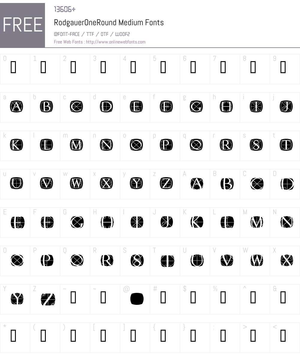 RodgauerOneRound Font Screenshots