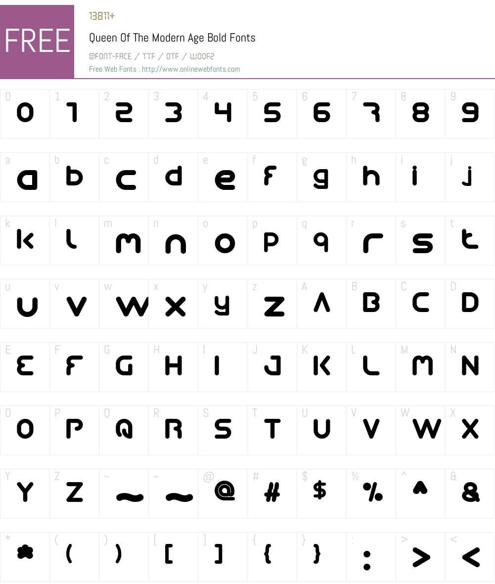 Queen Of The Modern Age Font Screenshots