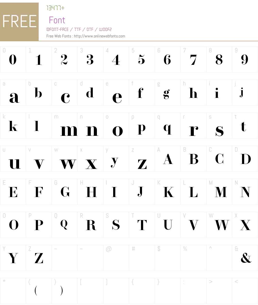Trianon Display Font Screenshots
