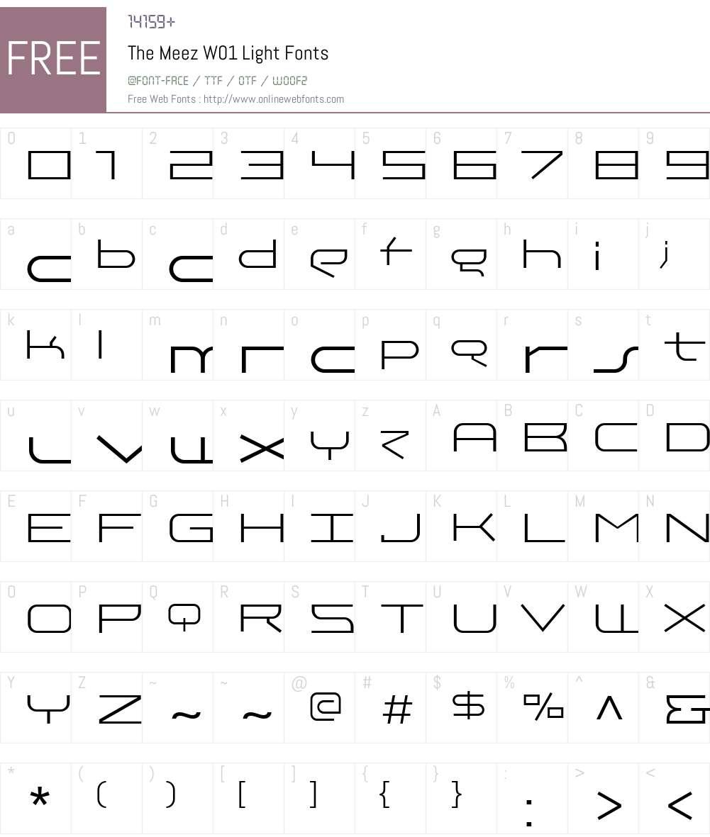 TheMeezW01-Light Font Screenshots