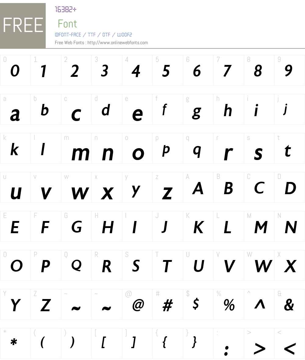 AstoriaSansW00-MediumIt Font Screenshots