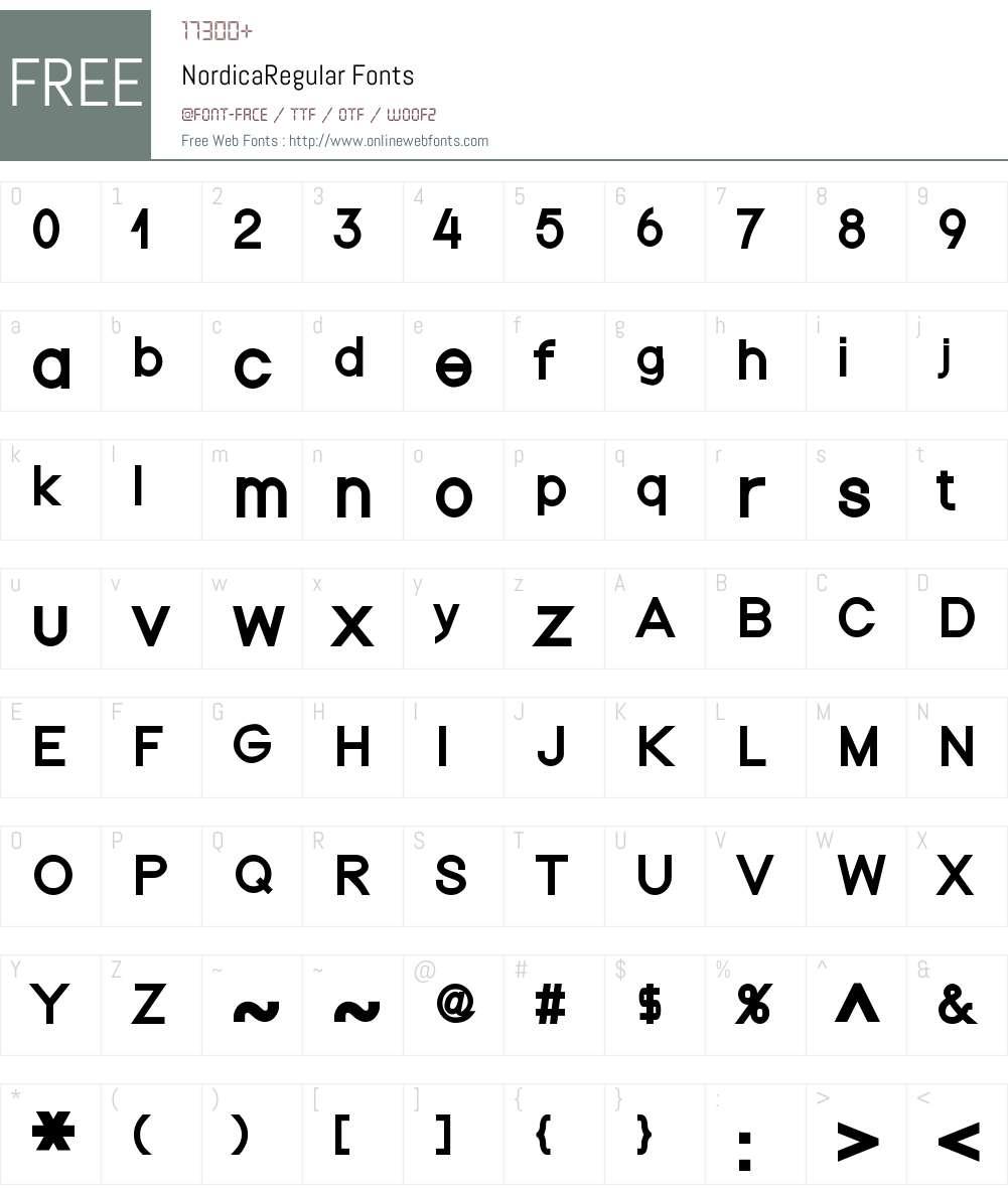 Nordica Font Screenshots