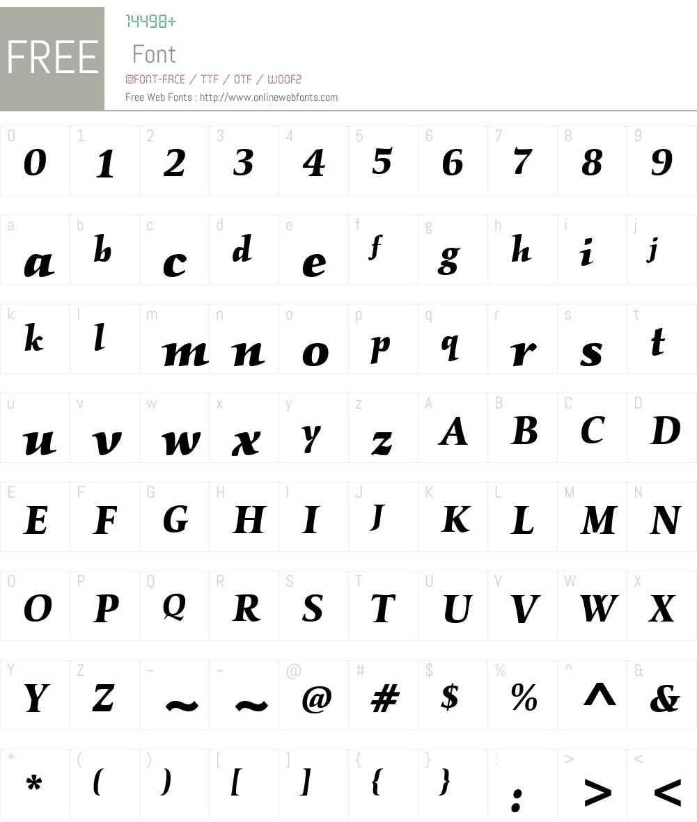 ITC Kallos Font Screenshots
