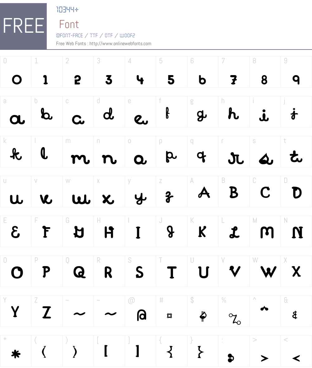 Treattype Font Screenshots