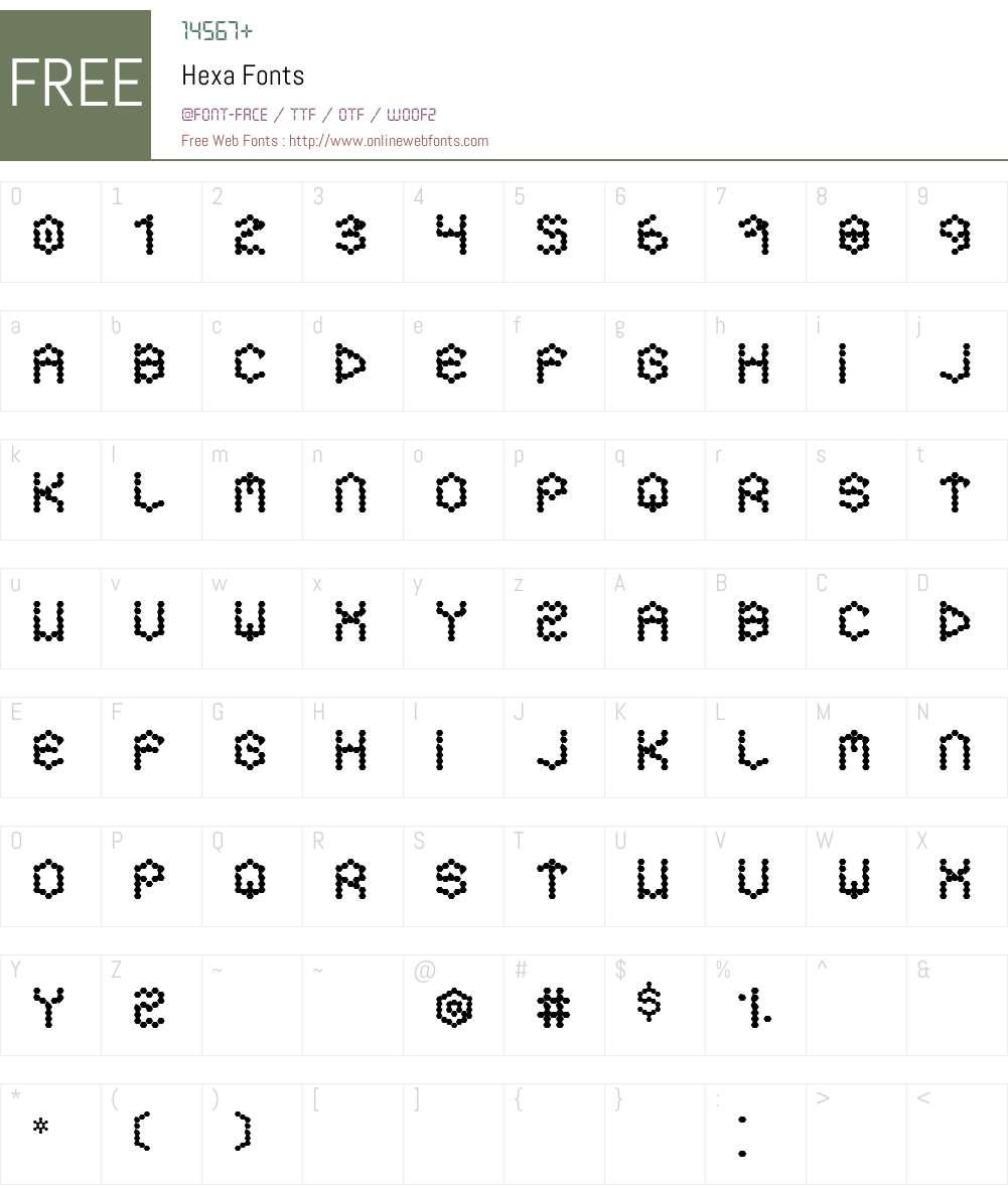 Hexa Font Screenshots