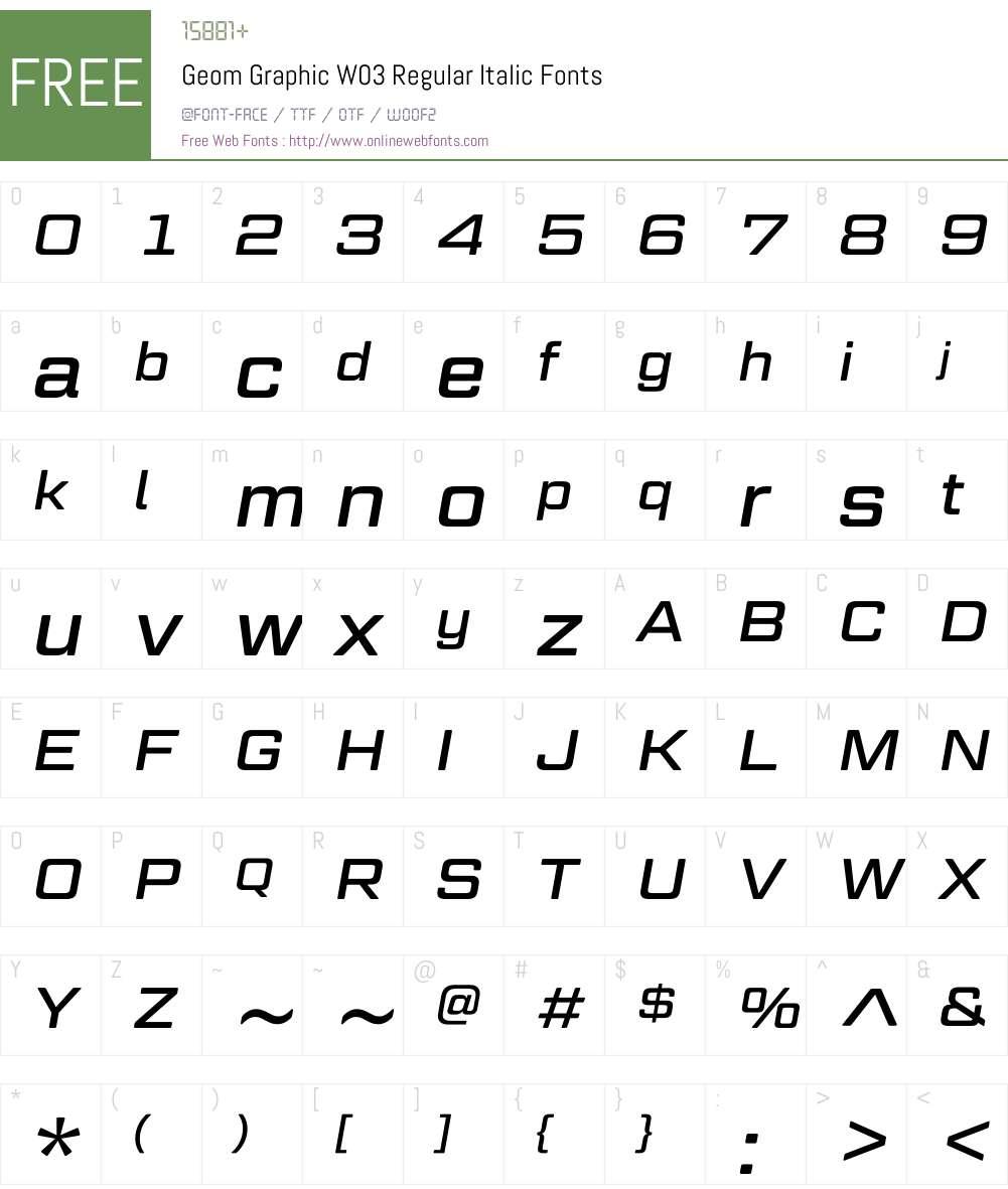 Geom Graphic Font Screenshots