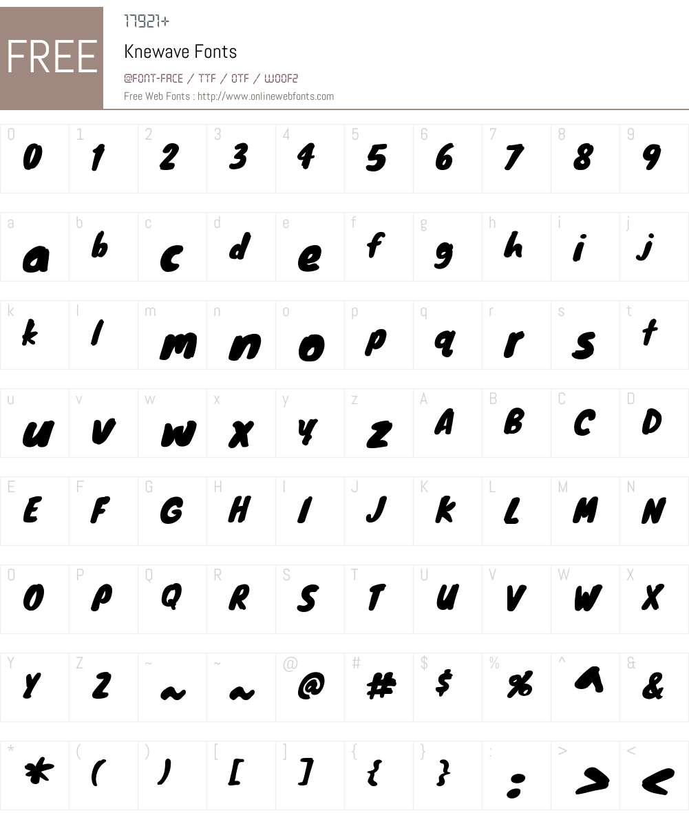 Knewave Font Screenshots