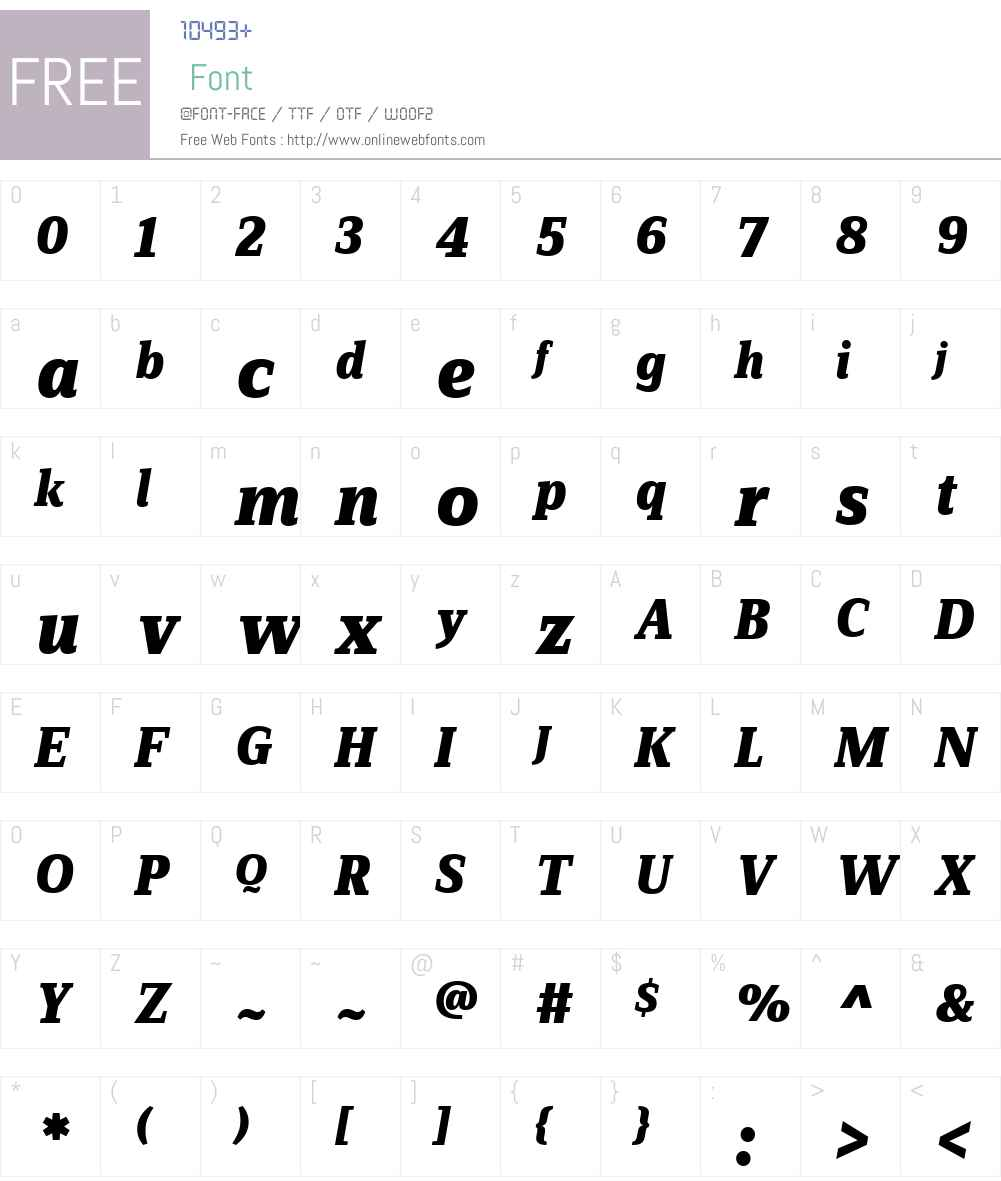 FF Zine Serif Display Font Screenshots