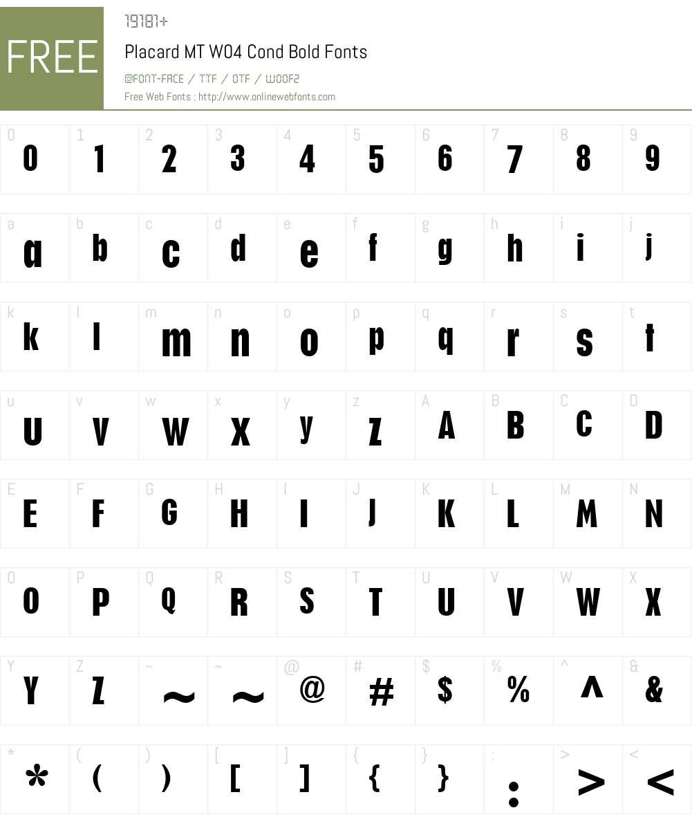 Placard Font Screenshots
