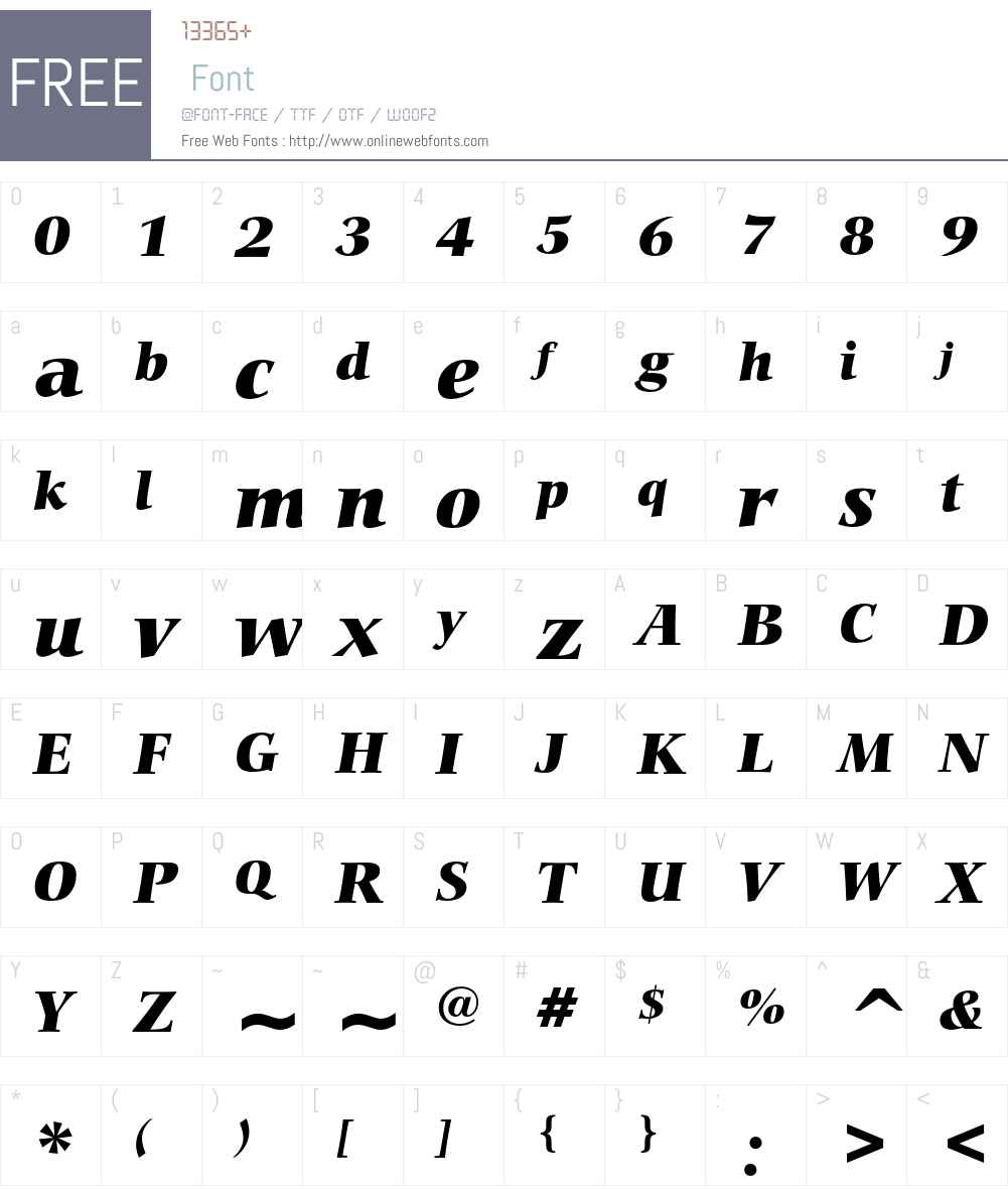 Bitstream Carmina Font Screenshots
