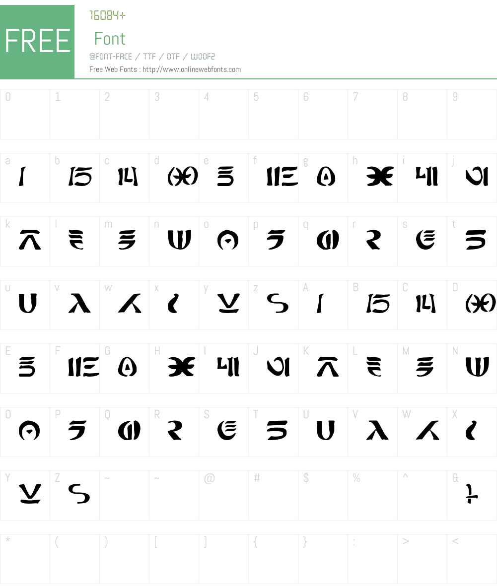 New Futhork Font Screenshots