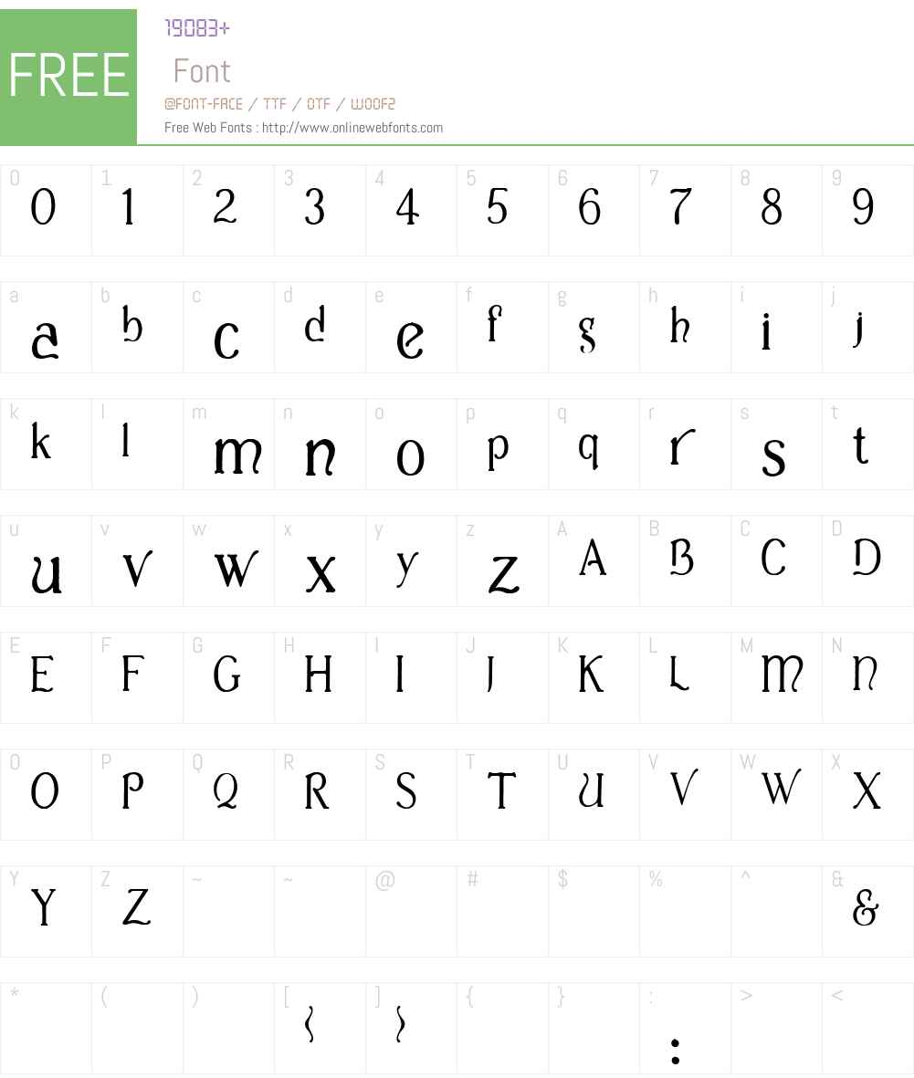 Casua Font Screenshots