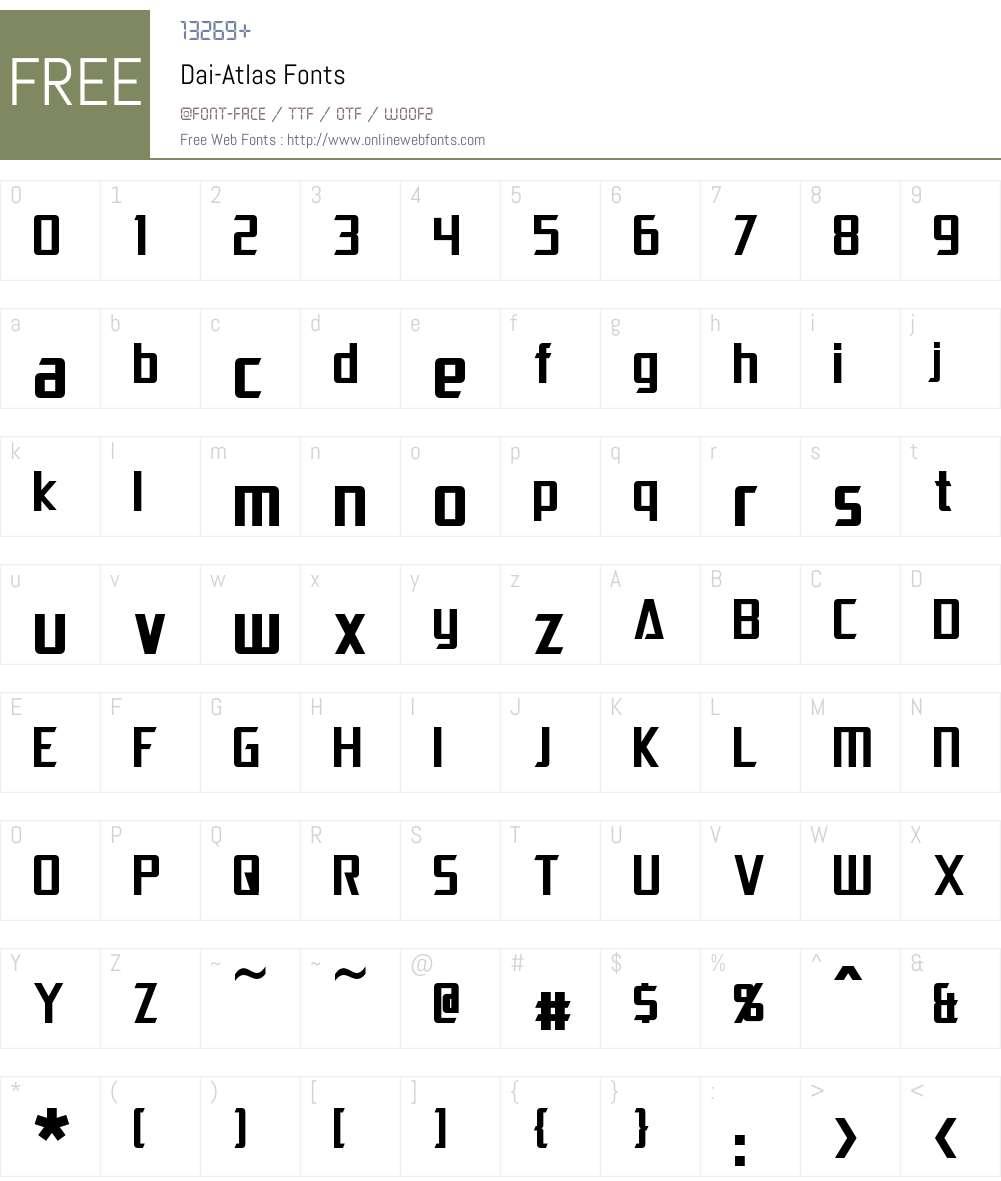 Dai-Atlas Font Screenshots