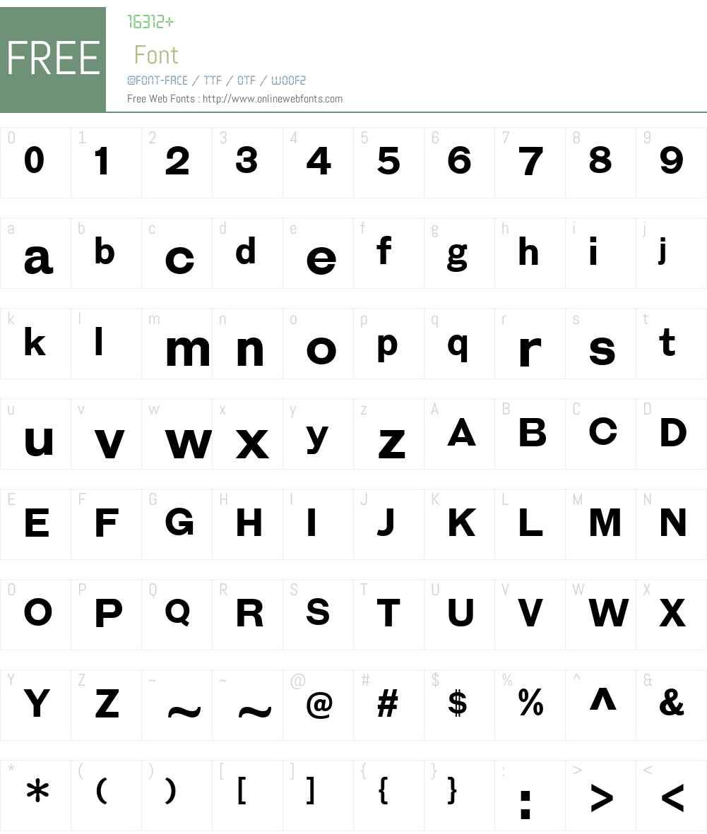 GalderglynnEsquireW00-Bold Font Screenshots