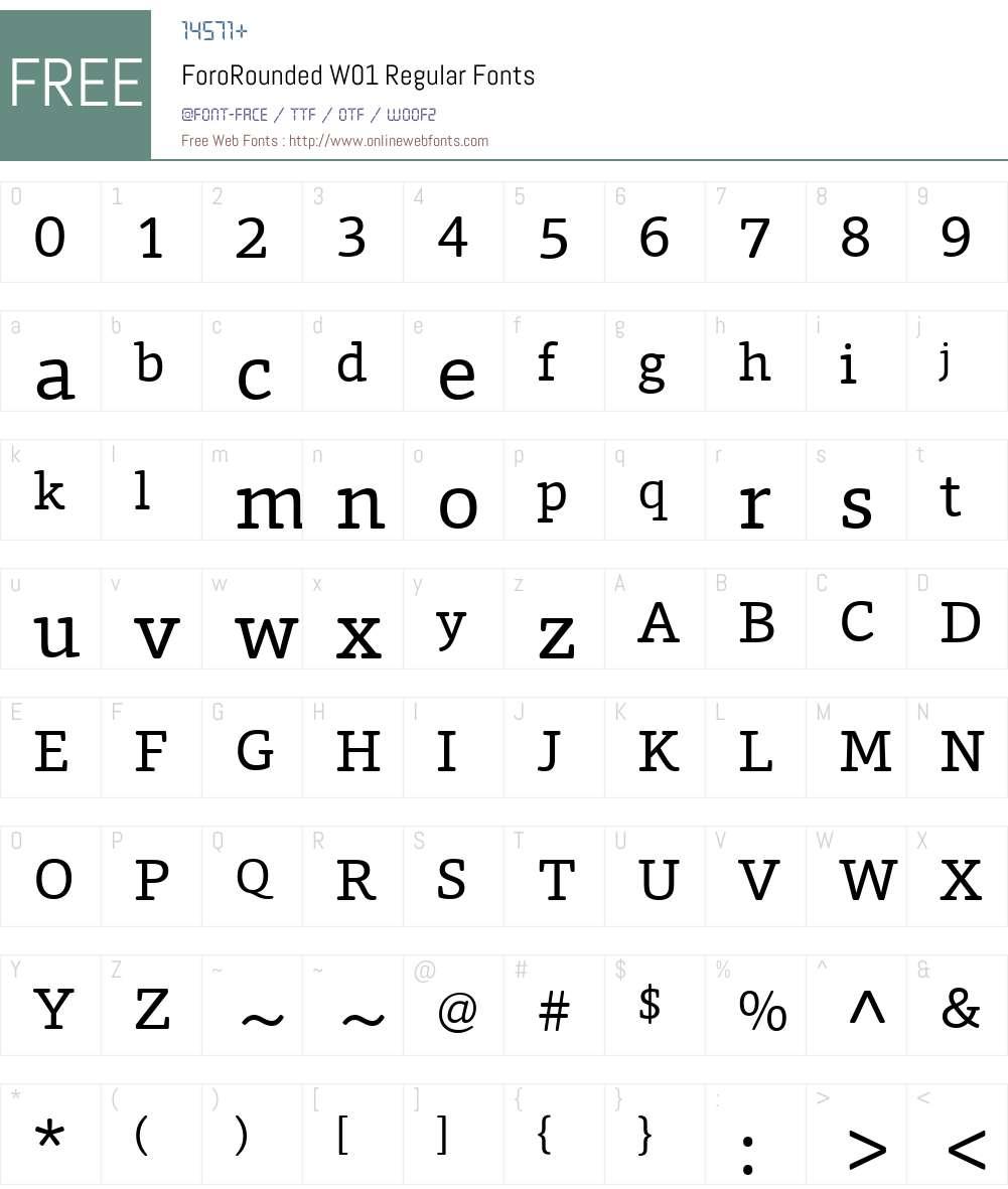 ForoRoundedW01-Regular Font Screenshots