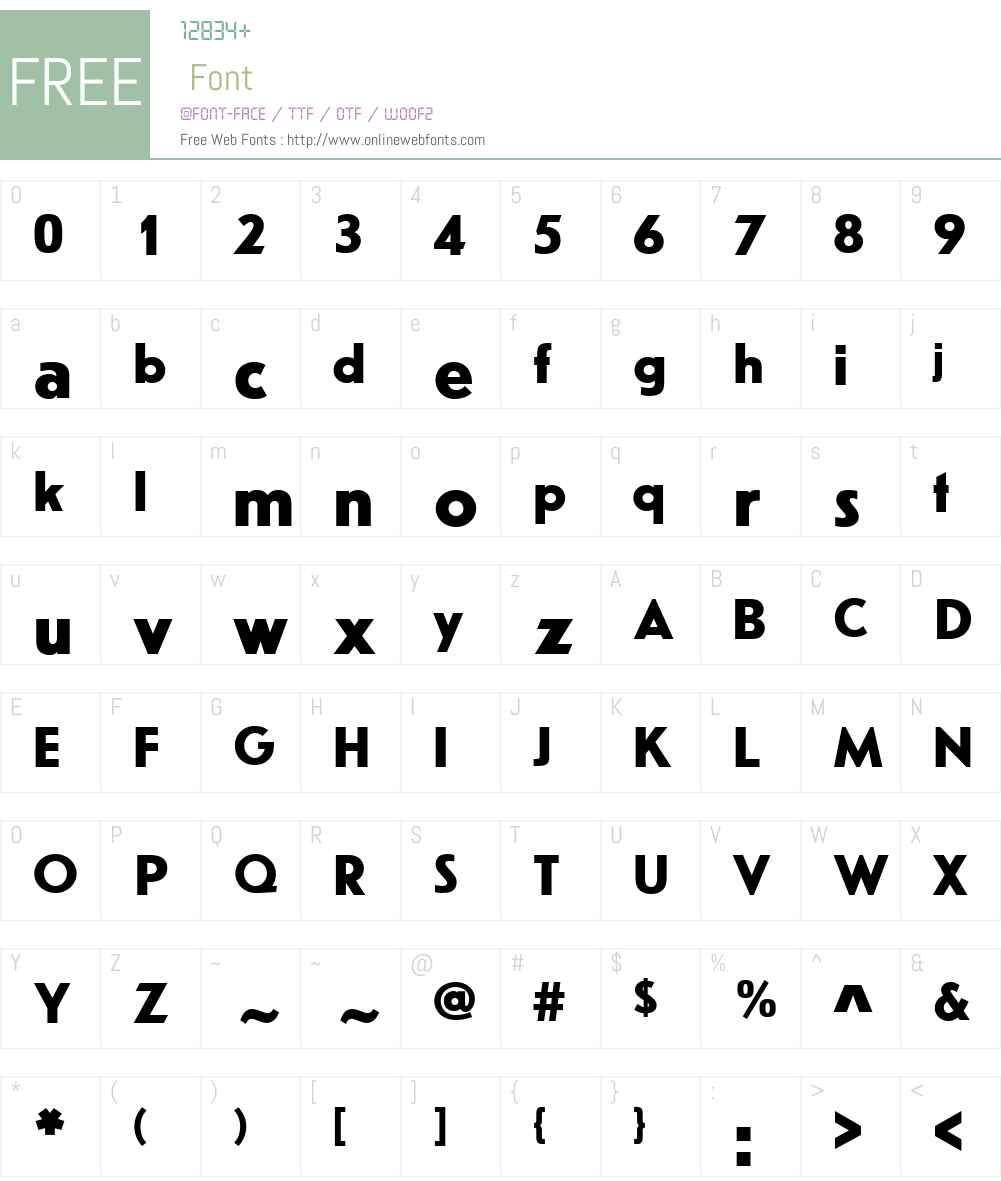 ErbarW01-Bold Font Screenshots