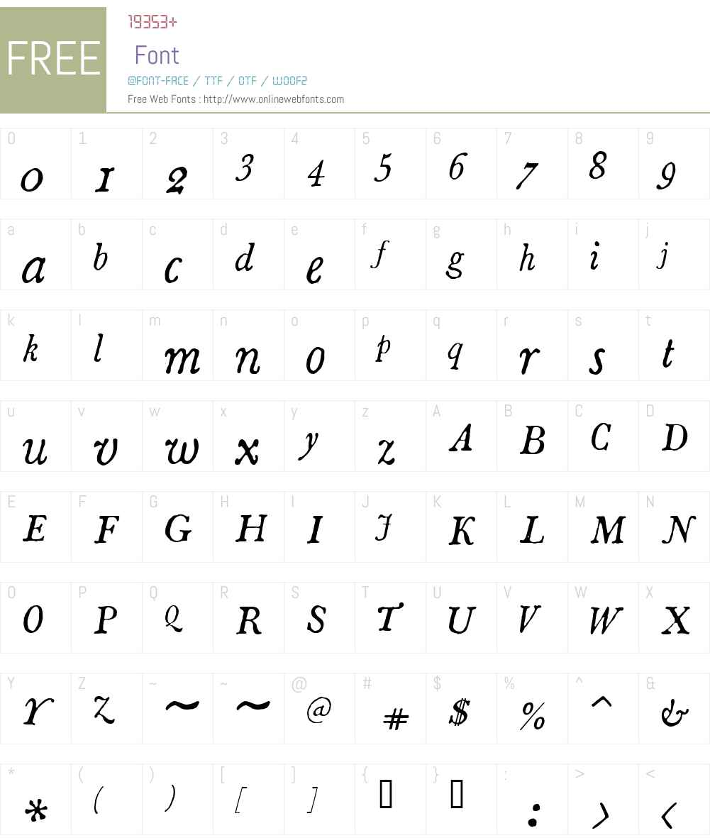 1785GLCBaskervilleW00-It Font Screenshots