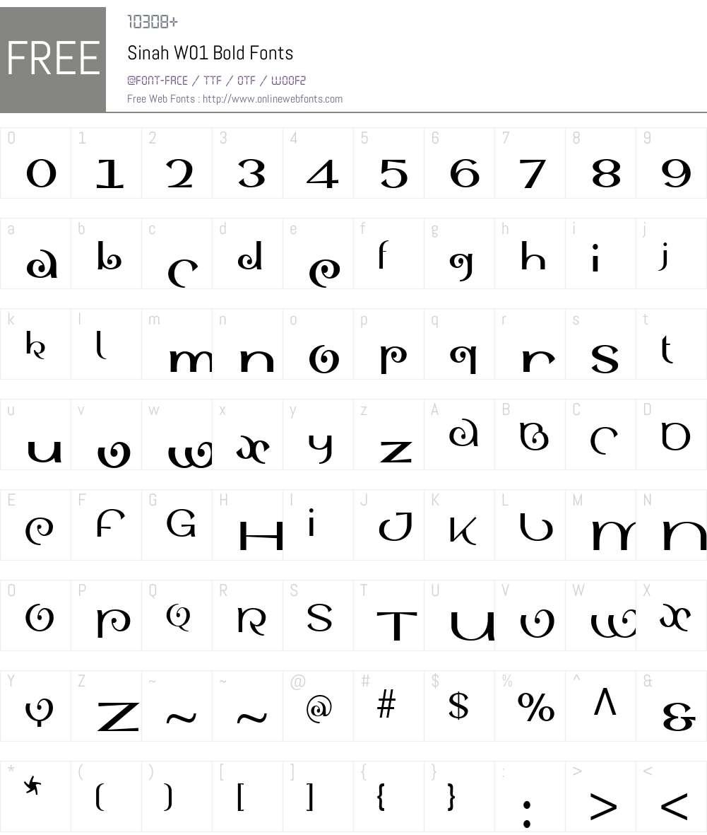 SinahW01-Bold Font Screenshots