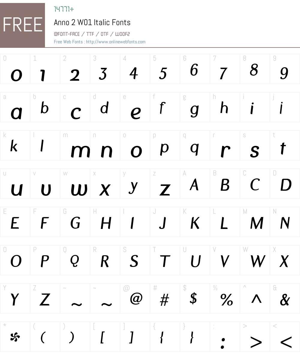 Anno2W01-Italic Font Screenshots