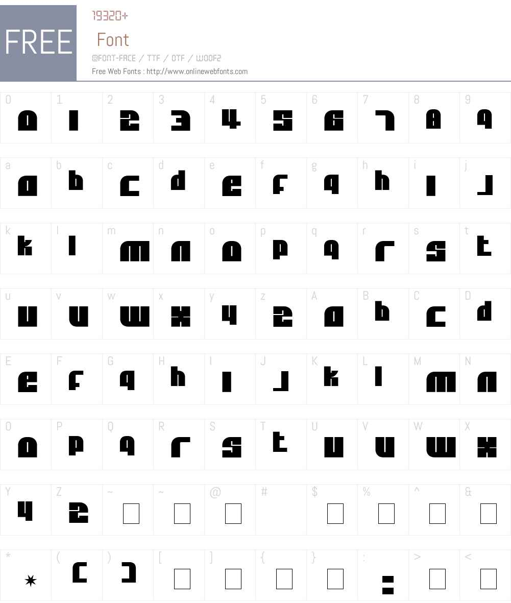 Alpha Flight Solid Font Screenshots