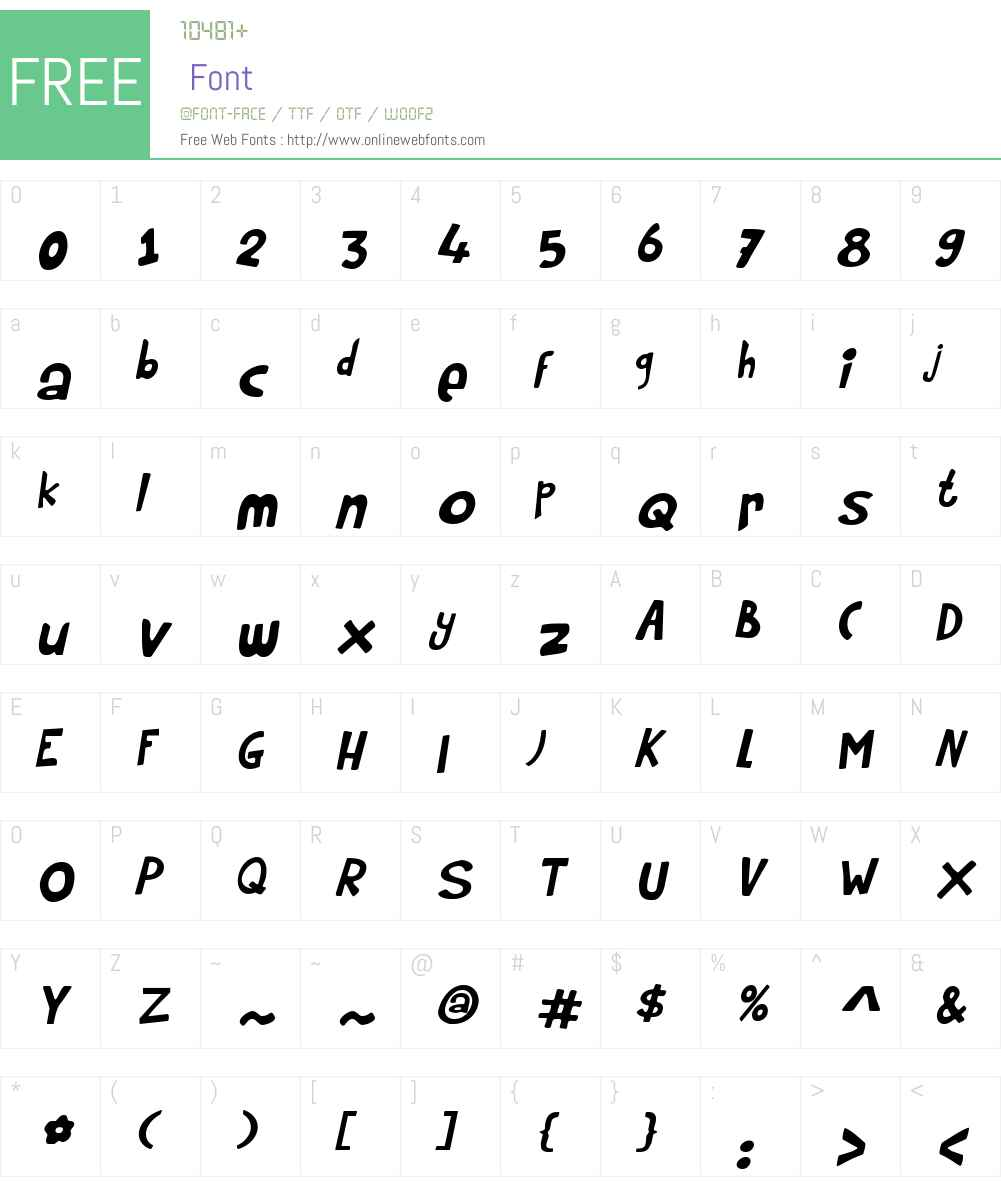 RumpelstiltskinW00-Italic Font Screenshots