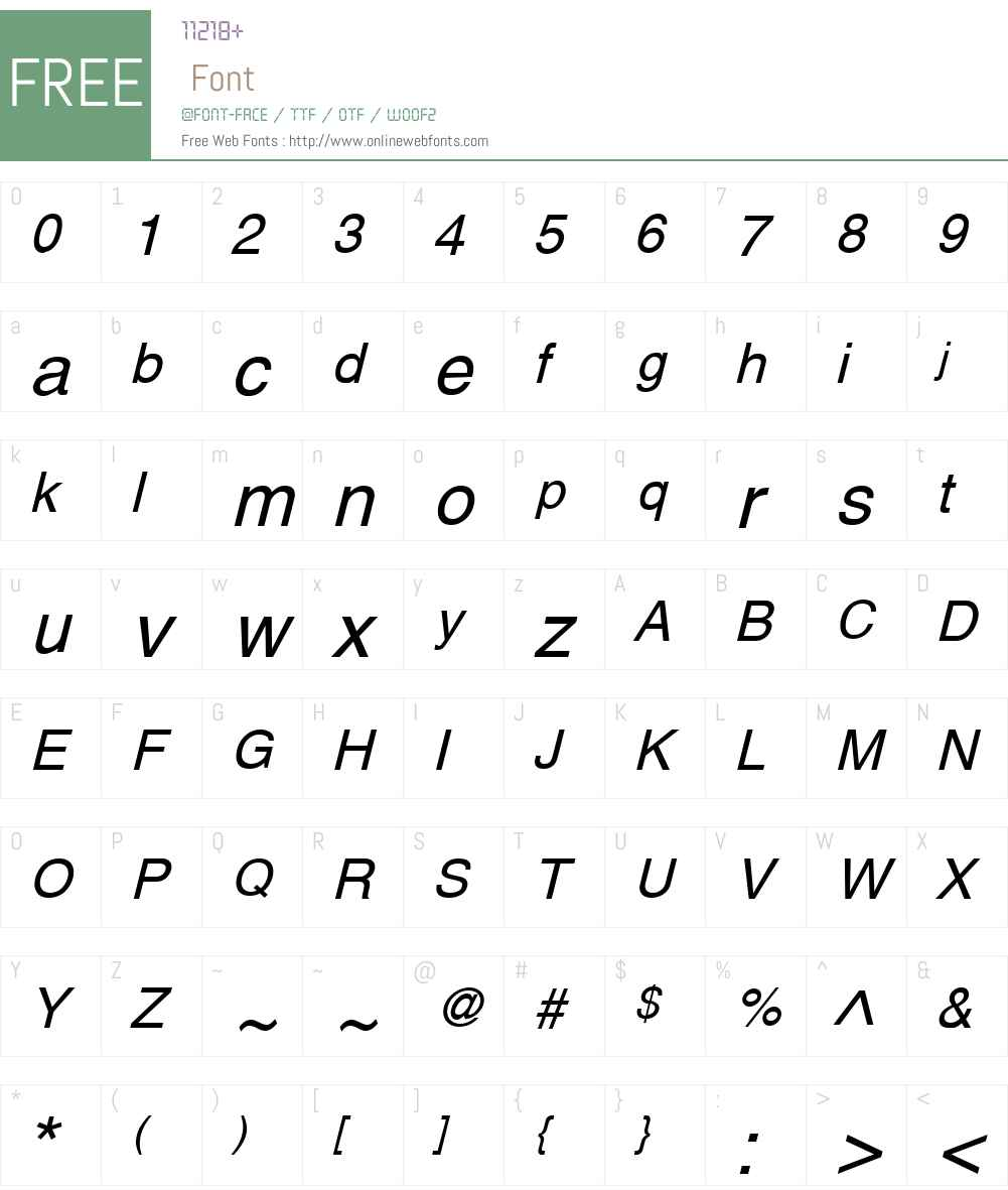 Yoxall Font Screenshots