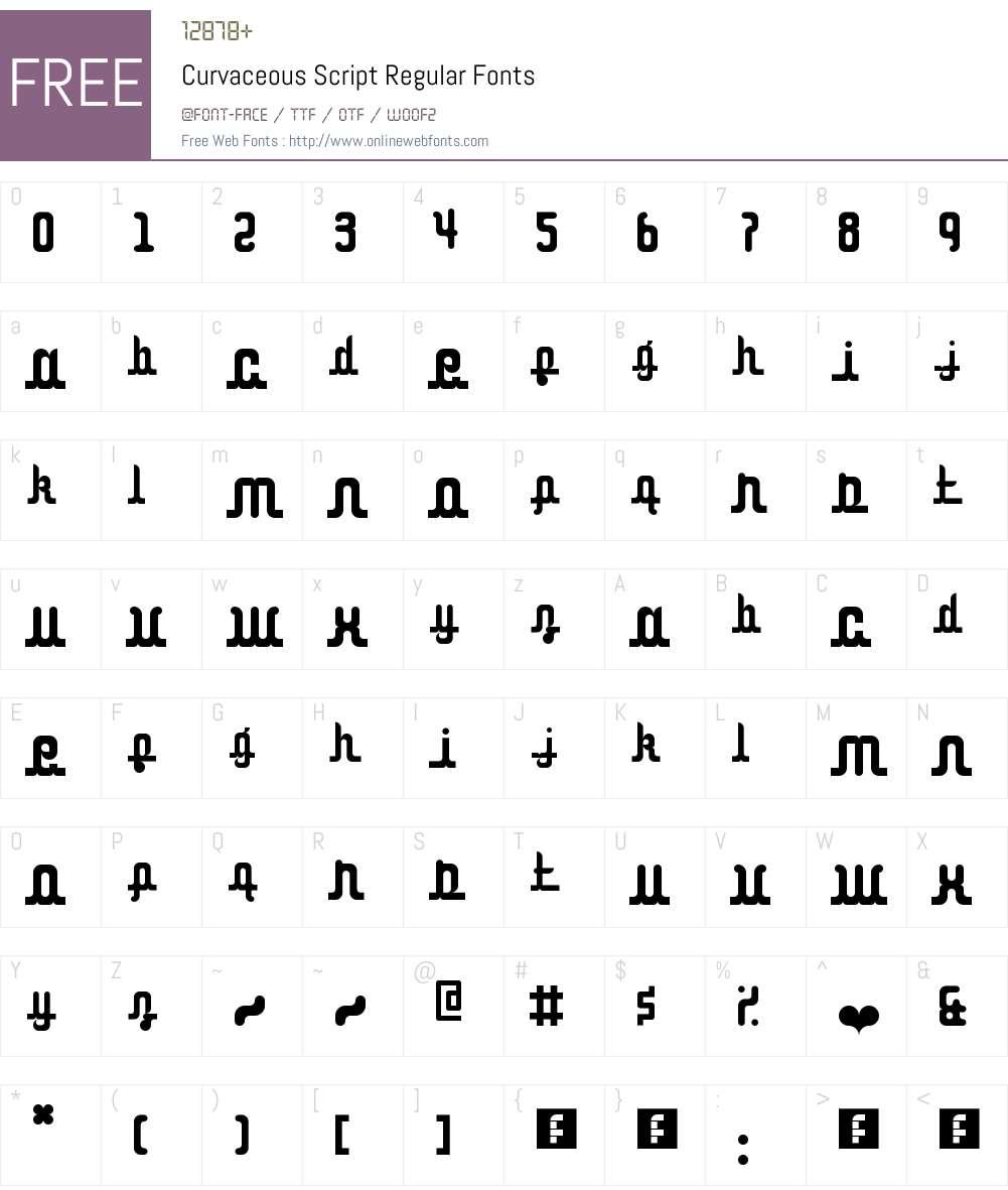 Curvaceous Script Font Screenshots