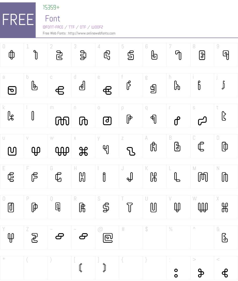 OneStroke Font Screenshots