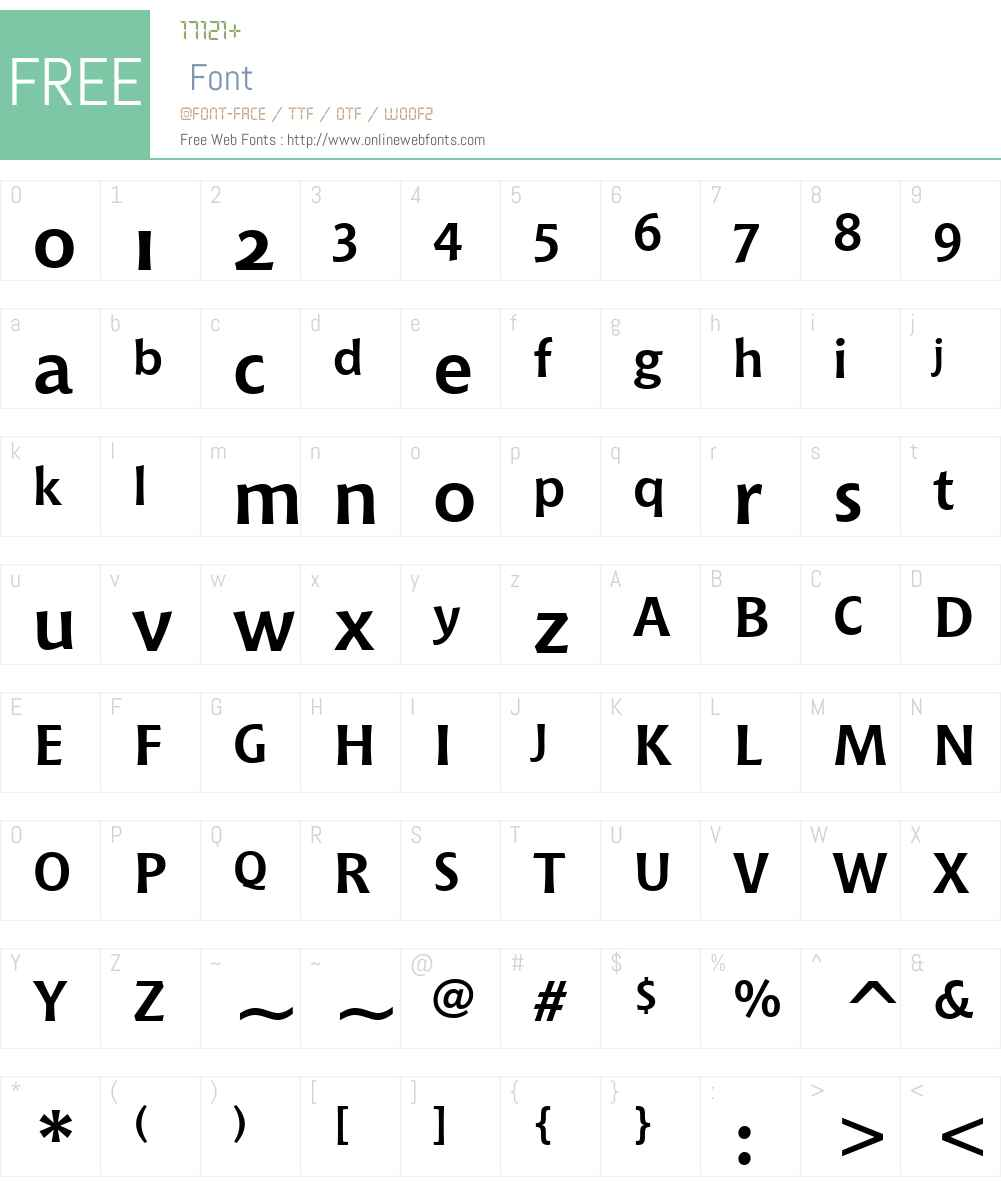 ChiantiBTW01-BoldOSF Font Screenshots