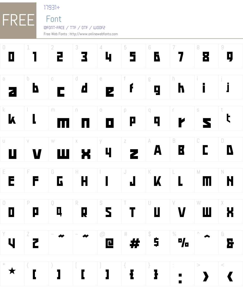 Agitka Font Screenshots