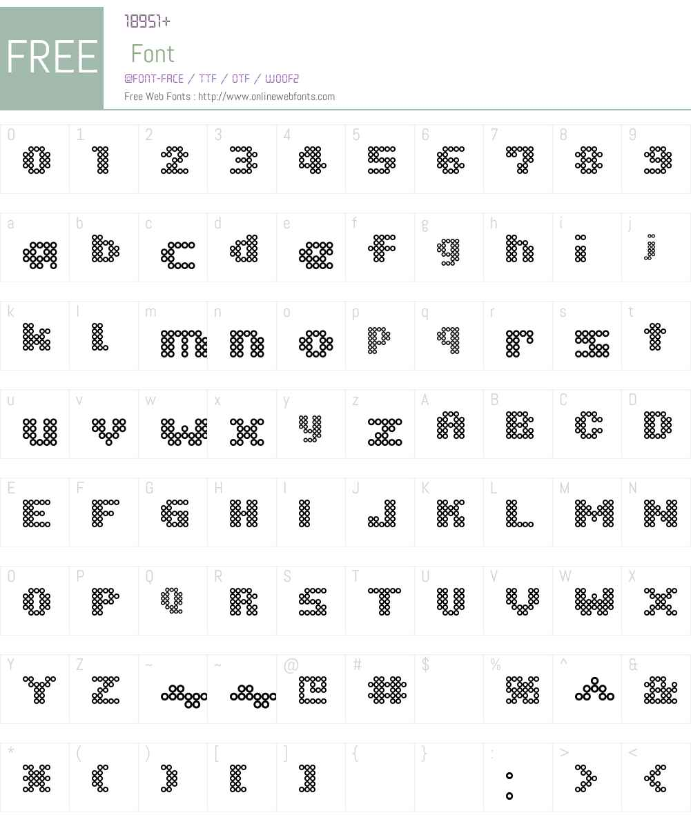 Ironbeadsfont Font Screenshots