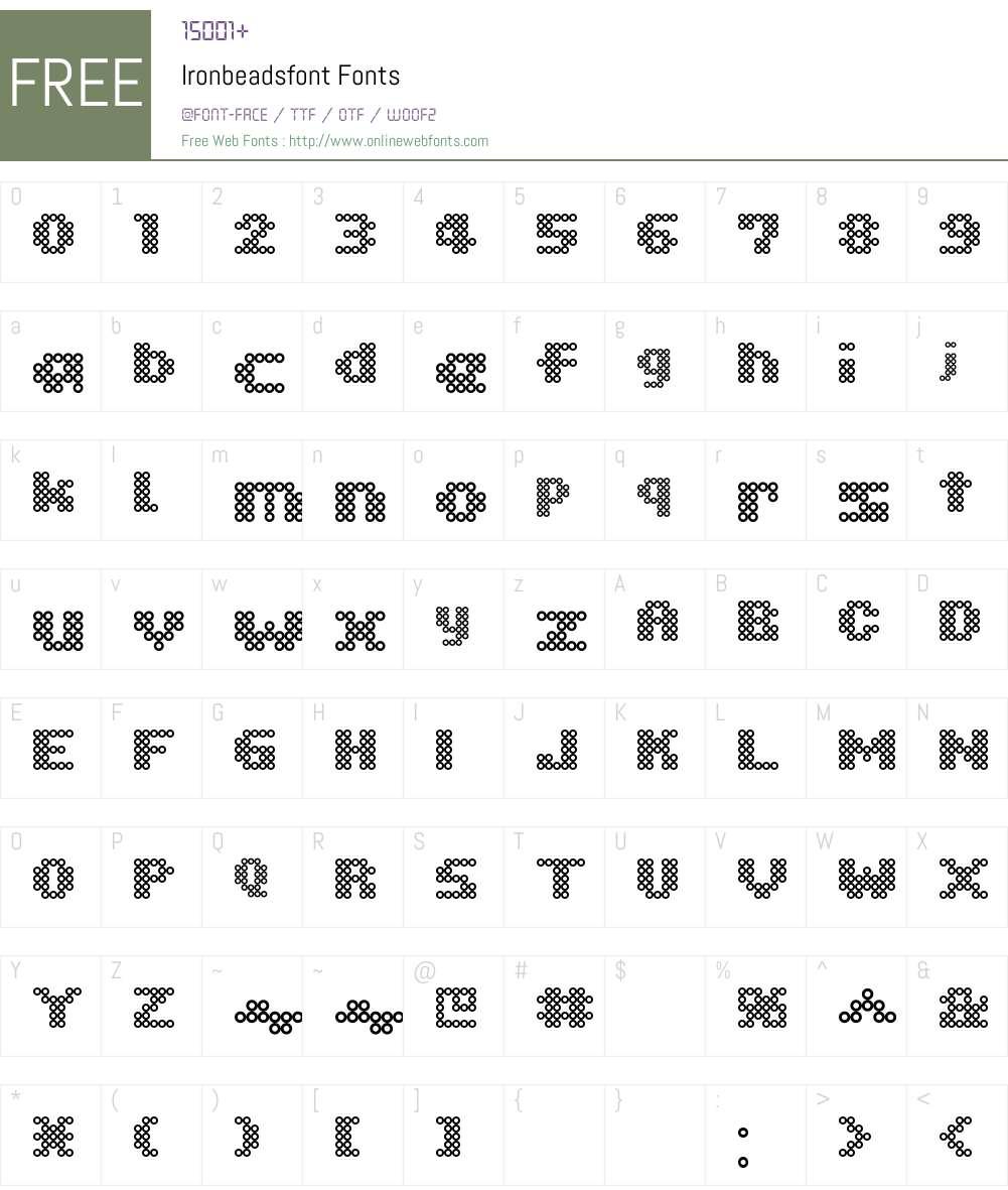 Ironbeadsfont Font Screenshots
