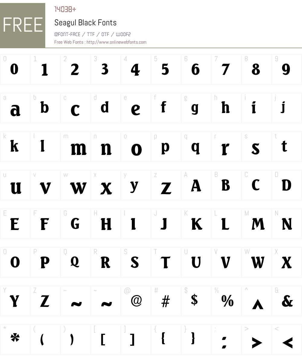 Seagul Font Screenshots