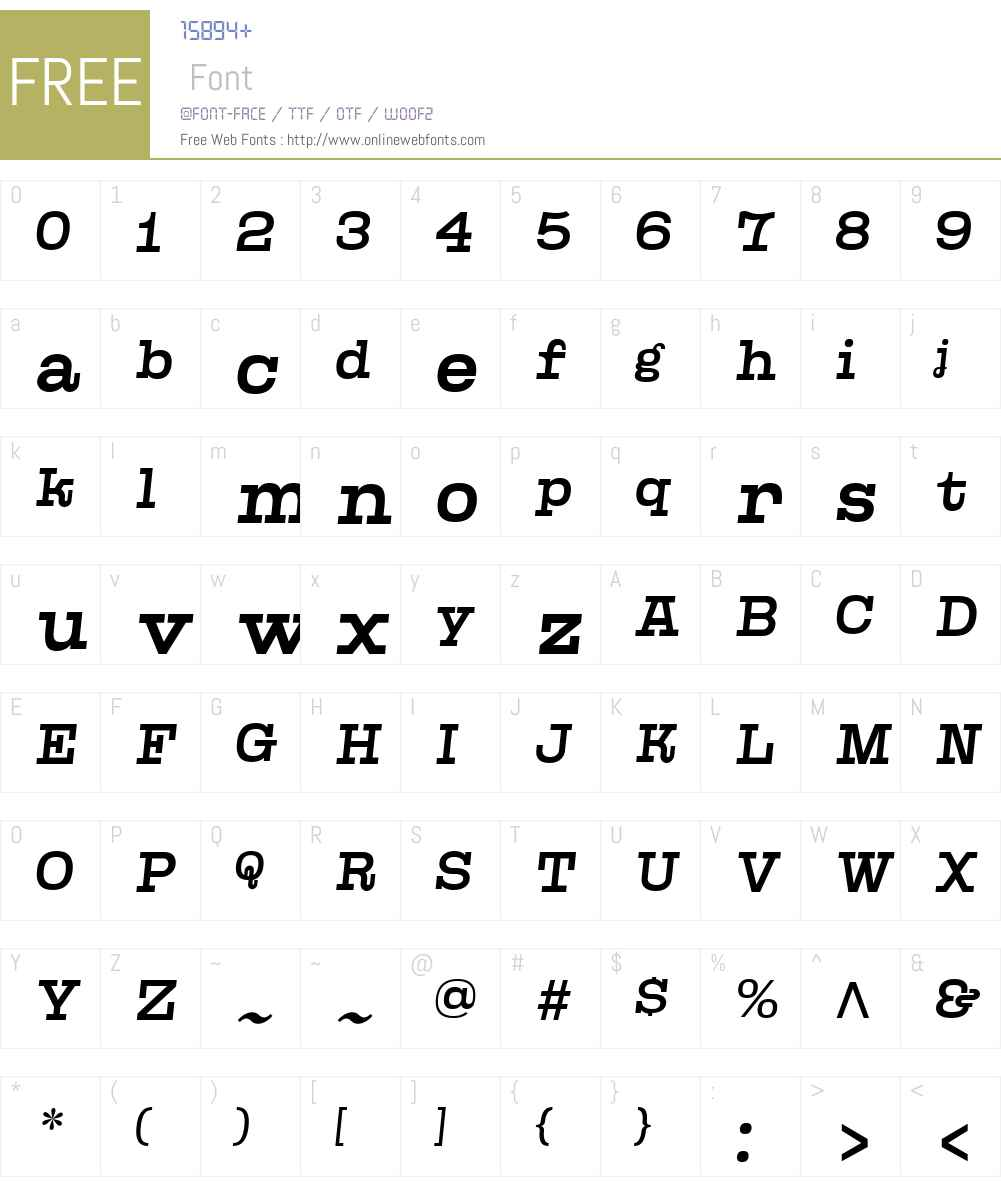 Kinghorn105W00-MediumObl Font Screenshots