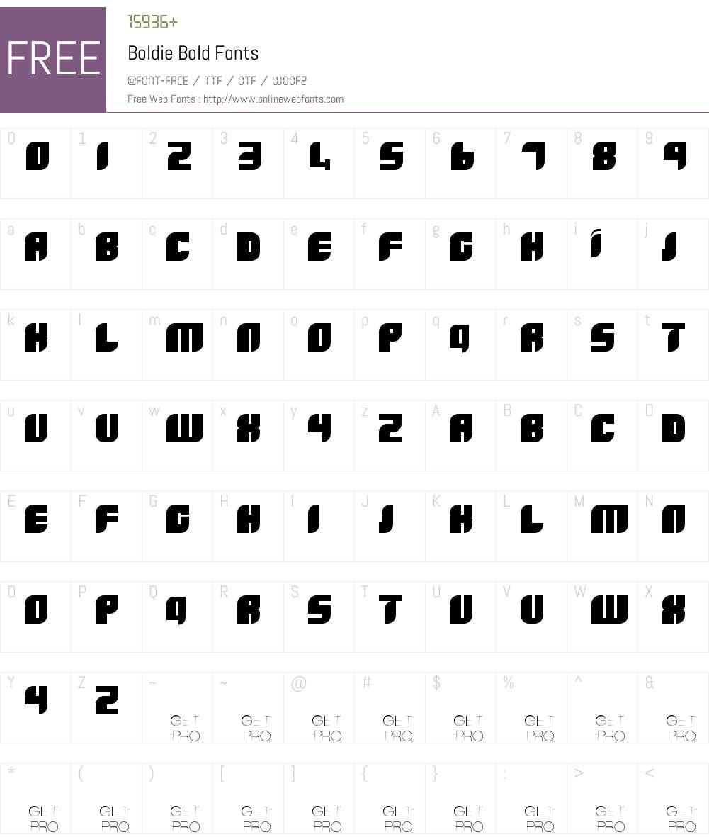 Boldie Font Screenshots