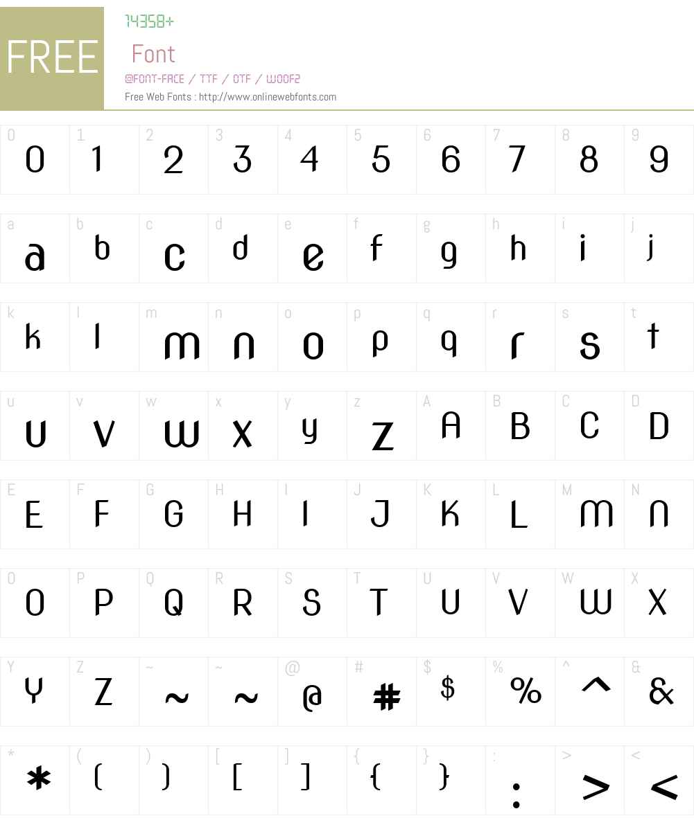 Nova Slim Font Screenshots