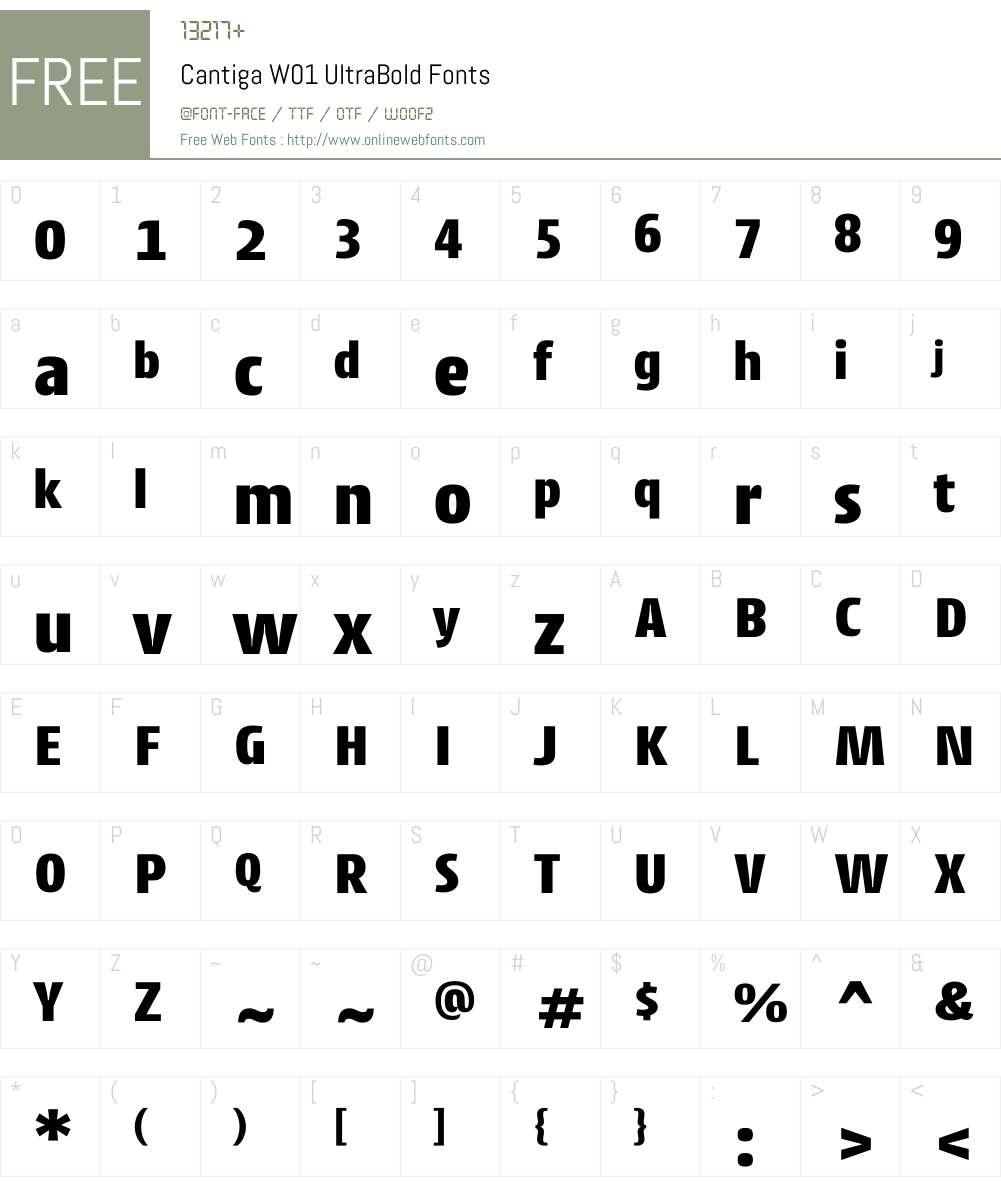 CantigaW01-UltraBold Font Screenshots