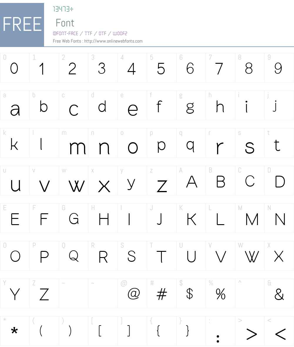 BrownstoneSansLight Font Screenshots