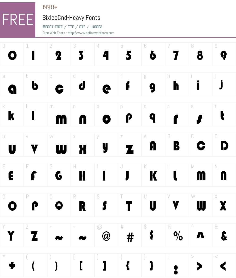 BixleeCnd-Heavy Font Screenshots
