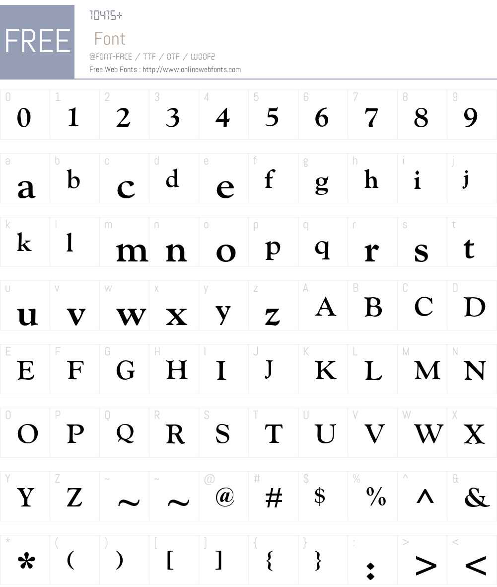 Goudy MT Std Font Screenshots